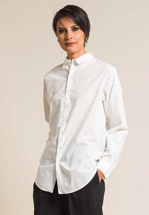 Album Di Famiglia Cotton Men's Cut Shirt in Milk