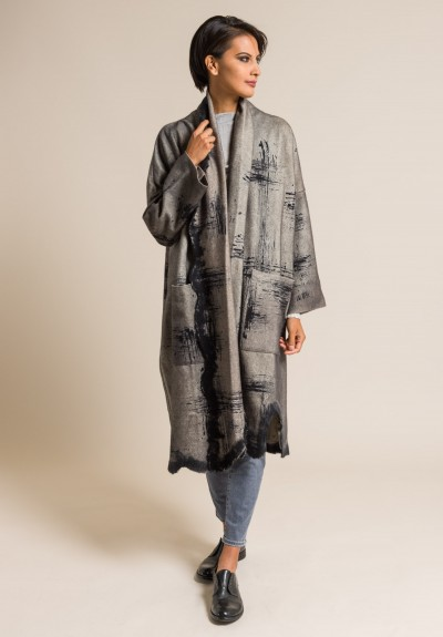 Avant Toi Scratches Dyed Distressed Long Jacket in Corda