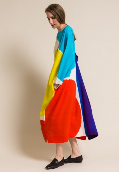 Daniela Gregis Oversized Bauhaus Print Dress in Multicolor