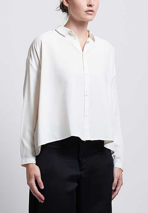 Toogood Short Sandwashed Draughtsman Shirt in Chalk