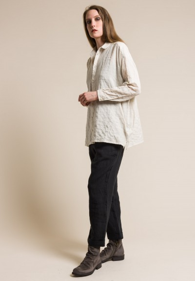toogood Soft Cotton Draughtsman Shirt in Chalk