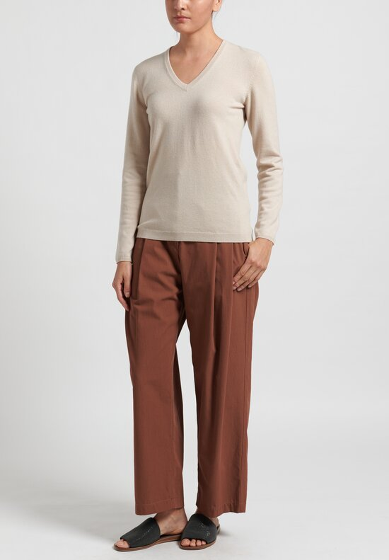 Brunello Cucinelli Pleated Baggy Trousers in Sienna