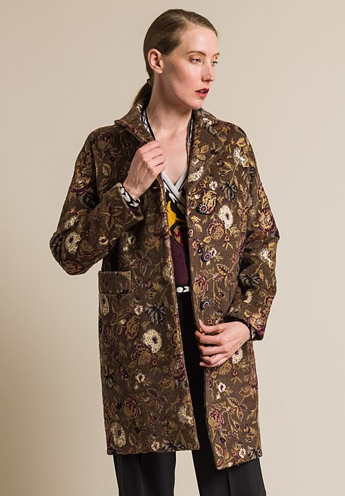 Etro Wool Hand Painted Floral Jacket