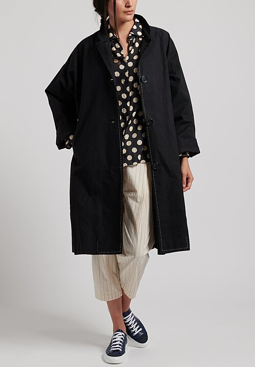 Casey Casey Oversized Blob Coat in Black