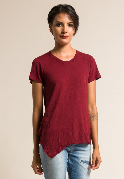 Wilt 2-Ply Fine Cotton Easy Tee in Beet