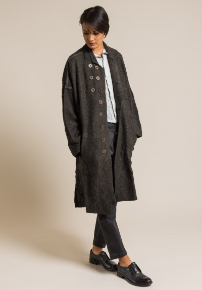 Umit Unal Wool Oversized Coat in Olive