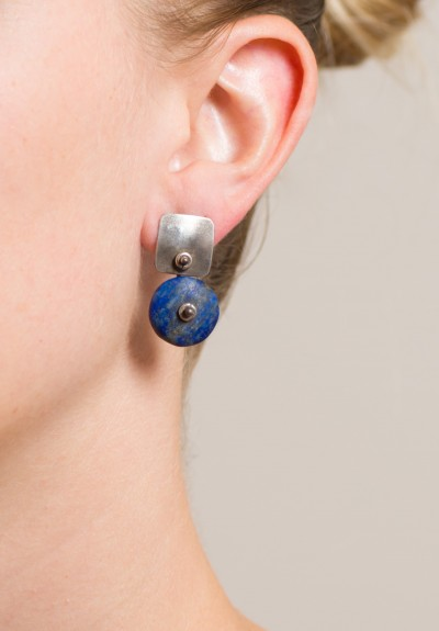 Holly Masterson Lapis Lazuli Disk Earrings