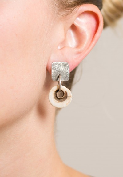 Holly Masterson Shell Currency Disk Earrings