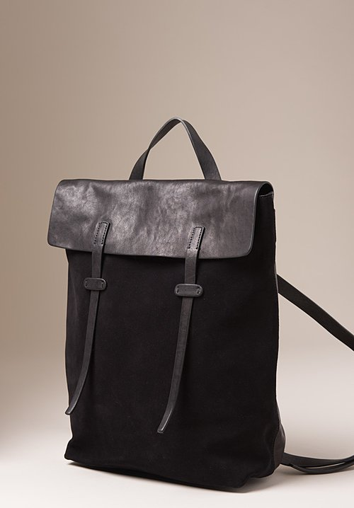 Massimo Palomba Leather Ziggy Derby Leather & Suede Book Bag in Black