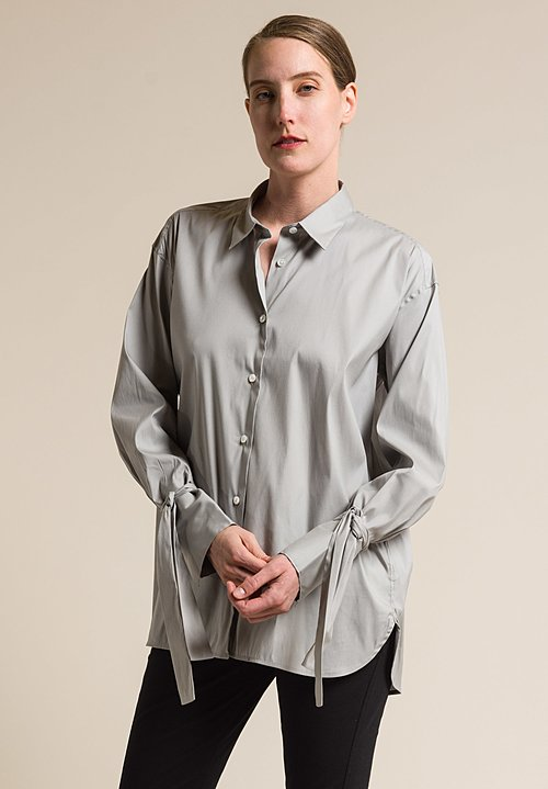 Lareida Stretch Cotton Relaxed Salimar Shirt in Polar Grey