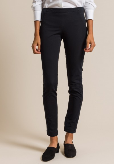 Brunello Cucinelli Cotton Skinny Riding Pants in Black