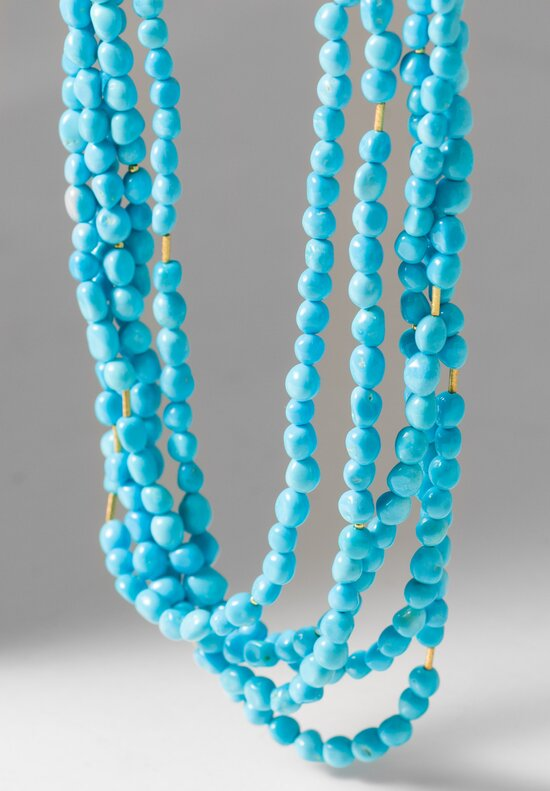 Greig Porter 18K, Sleeping Beauty Turquoise 5 Strand Wrap