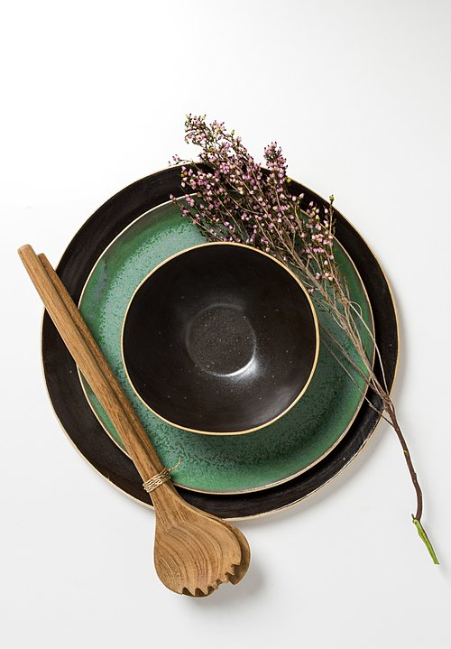 Laurie Goldstein Round Ceramic Bowl in Black