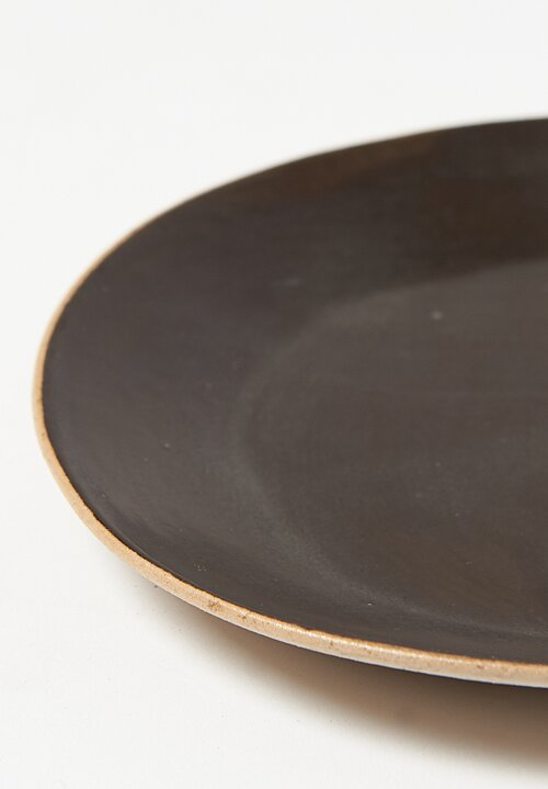 Small Ceramic Plates in Black