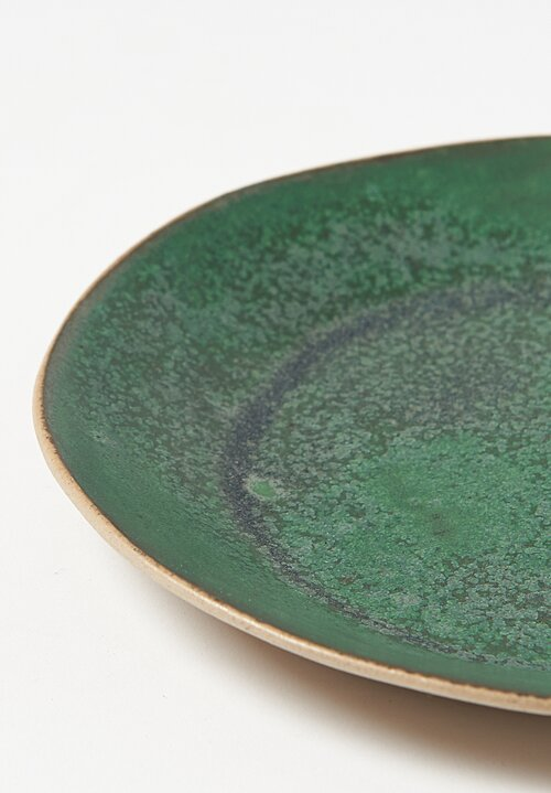 Small Ceramic Plates in Green