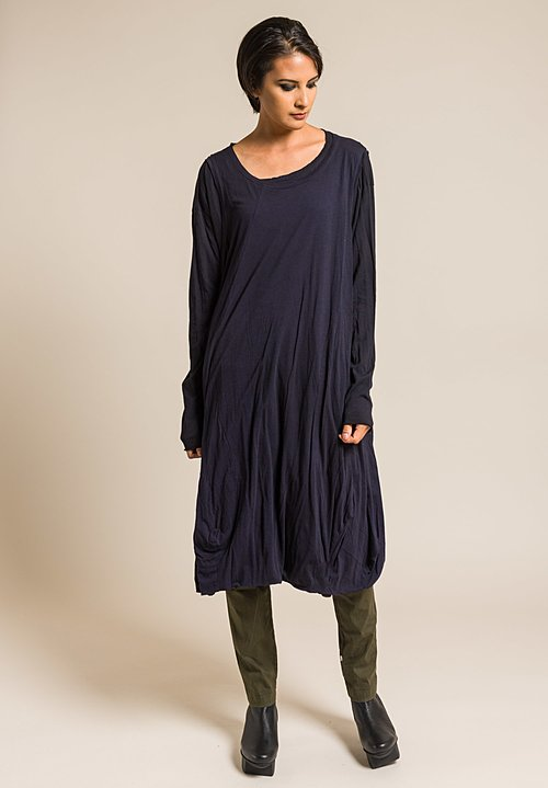 Rundholz Black Label Cotton Oversized 2-Layer Dress in Blue