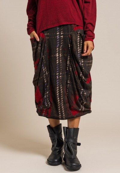 Rundholz Black Label Cotton Printed Skirt in Multicolor