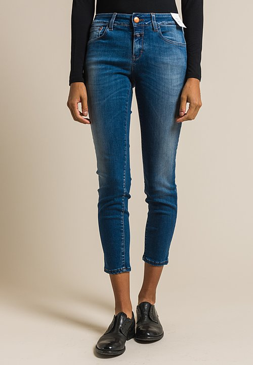 Closed Baker Cropped Narrow Jeans in New Blue Light