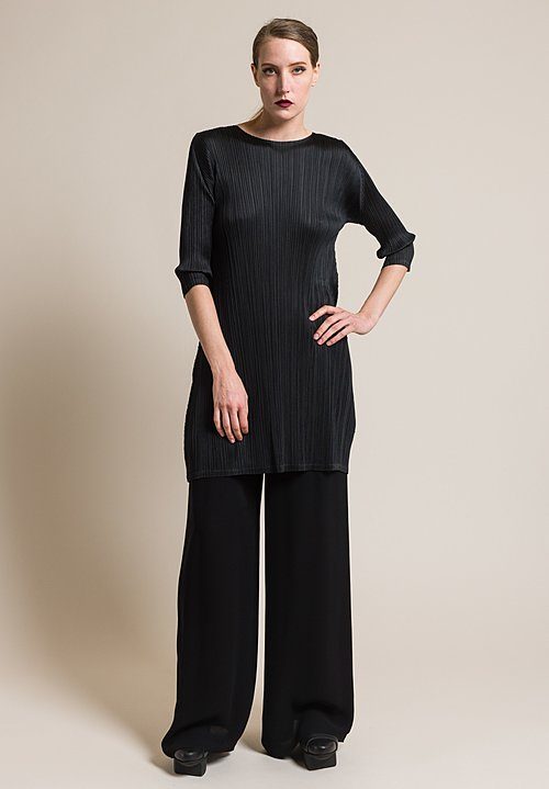 Issey Miyake Pleats Please September Tunic in Black