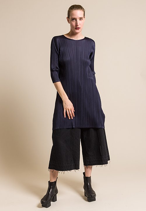Issey Miyake Pleats Please September Tunic in Navy