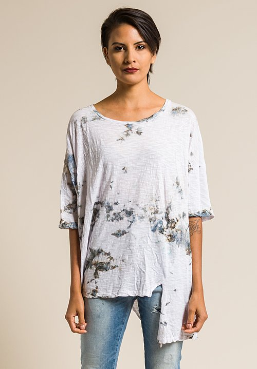 Gilda Midani Pattern Dyed Short Sleeve Super Tee in Grey Stain