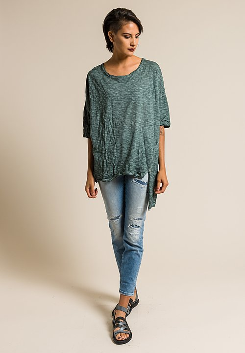 Gilda Midani Solid Dyed Short Sleeve Super Tee in Forest