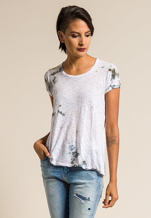 Gilda Midani Pattern Dyed Short Sleeve Monoprix Tee in Grey Stain