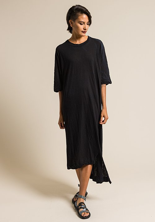 Gilda Midani Solid Dyed Long Super Dress in Black