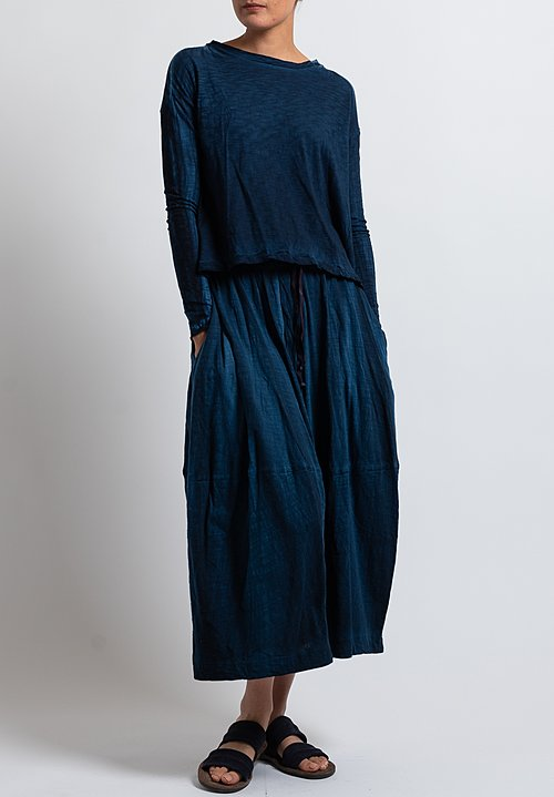 Gilda Midani Solid Dyed Y Skirt in Deep Blue