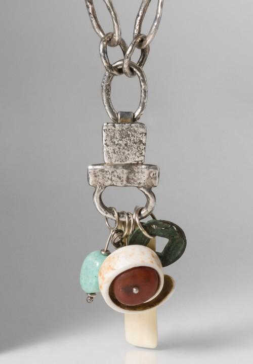 Holly Masterson Conus Shell Carnelian Opal Walrus Ivory