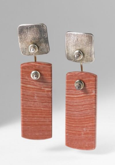 Holly Masterson Bacon Jasper Rectangle Earrings