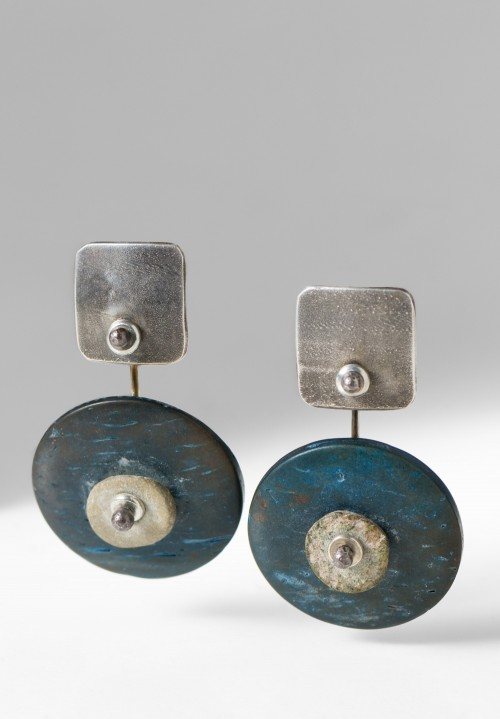 Holly Masterson Dyed Coconut Shells Earrings
