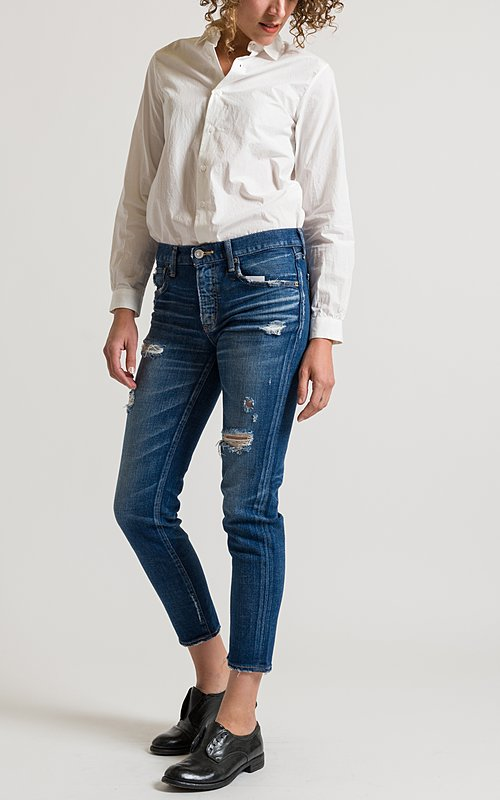 Moussy Isko Skinny Jeans in Dark Blue