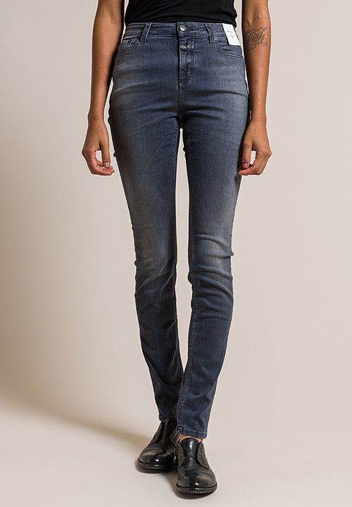 Closed Lizzy Mid Rise Skinny Fit Jeans in Smoky Black