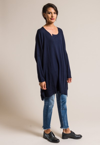 Rundholz Black Label Wool Oversized Tunic in Blue