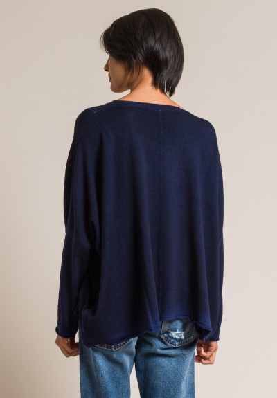 Rundholz Black Label Wool Oversized Sweater in Blue