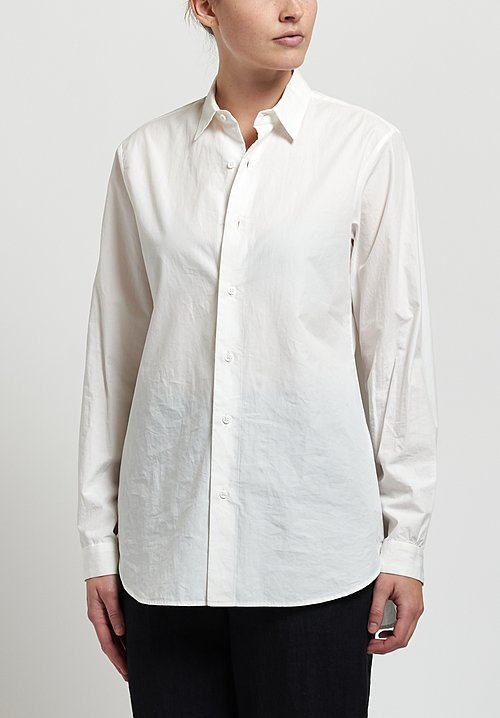 Kaval High Count Button-Down Shirt In Off White