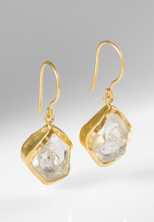 Pippa Small 18K, Single Drop Herkimer Earrings
