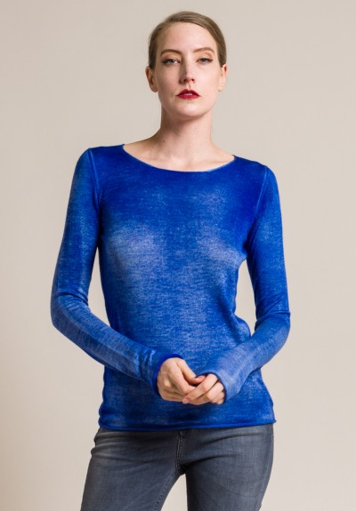 Avant Toi Cashmere/Silk Round Neck Knit Top in China