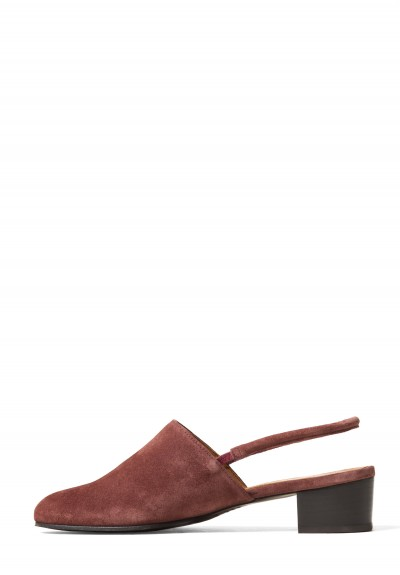 Anne Thomas Suede Williamsburg Slip-Ons in Extra Softy Burgundy