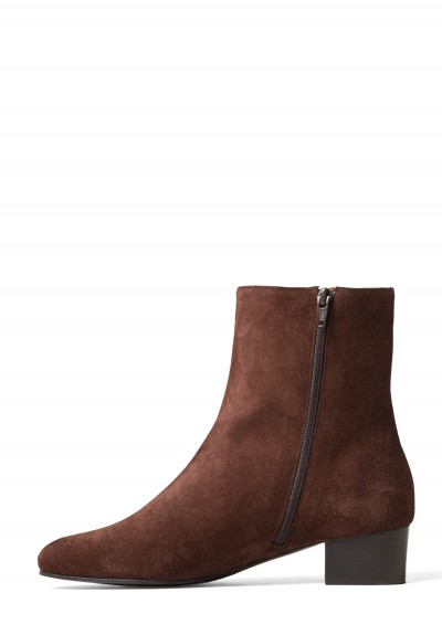 Anne Thomas Suede Michele Boots in Extra Softy Espresso