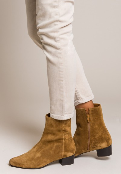 Anne Thomas Suede Michele Boots in Extra Softy Sigaro