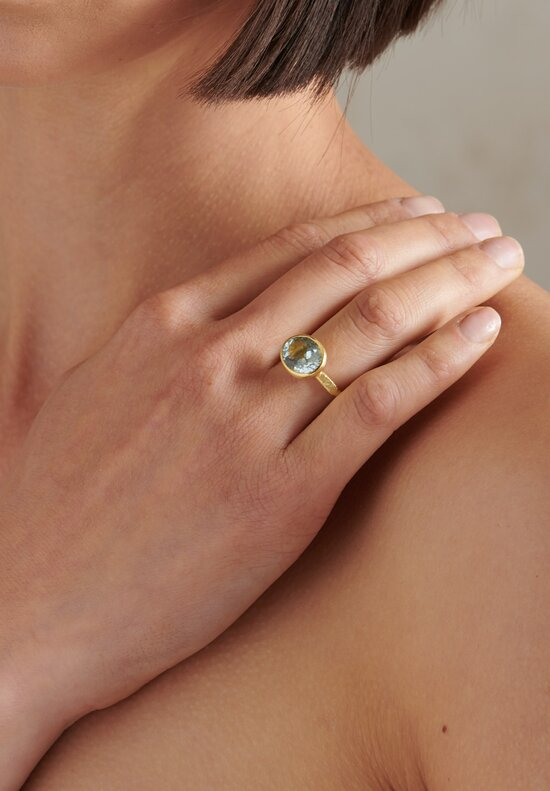 Disa Allsopp 18K Gold Aquamarine Ring