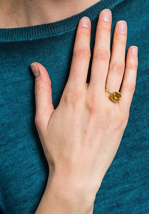 Disa Allsopp 18K Gold Citrine Ring