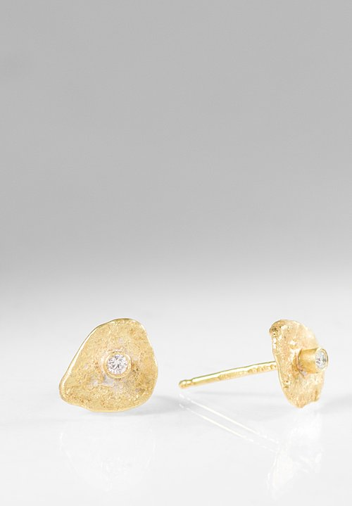 Disa Allsopp 18K Gold, Diamond Disc Studs