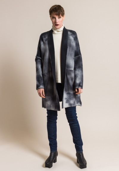 Avant Toi Cashmere and Virgin Wool Oversized Cardigan in Husky