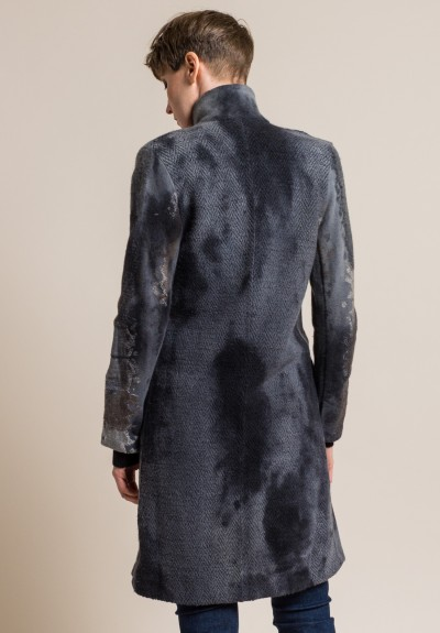 Avant Toi Felted Fabrics Long Jacket in Husk