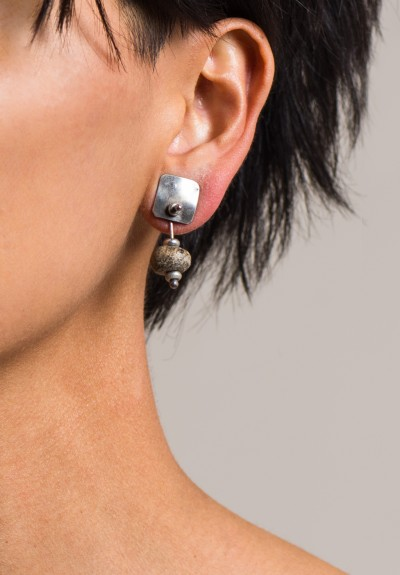 Holly Masterson Small Ancient Wooly Mammoth Bone Earrings
