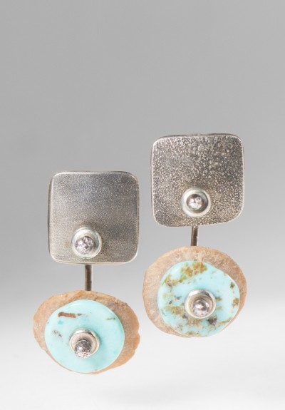 Holly Masterson Stone & Turquoise Earrings