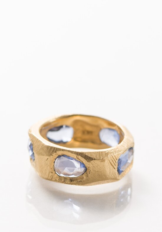 Page Sargisson 18K Gold Five Sapphire Band